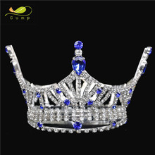 full round miss world crown and tiara