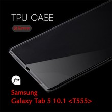 0.5mm Ultra Thin TPU Transparent Clear Protective Case for Samsung Galaxy Tab 5 10.1 T555