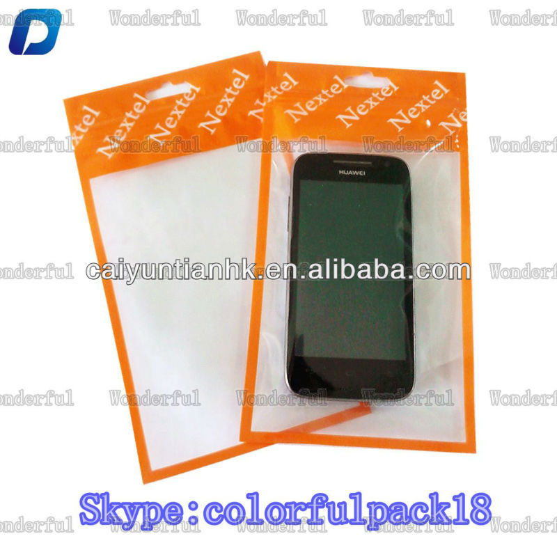 hot sale mobile phone accessories plastic bag for samsung galaxy s4 with ziplock and window wholesale