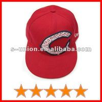 Fashion youth 3d embroidery flat snapback caps (SU-HP4972)