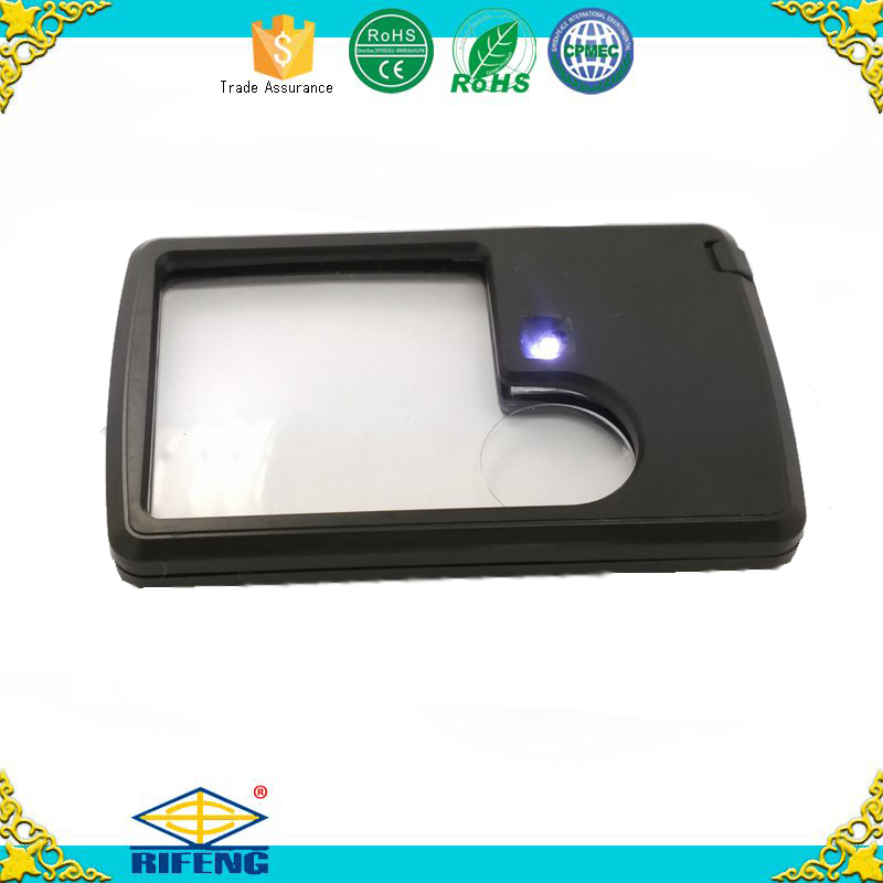 credit card sized magnifier ,H0T047 magnifier lamp led light head magnifying glass