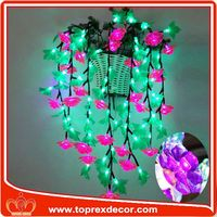 Pink big christmas led flower tree light blossom lights