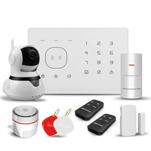 Wireless home security gsm alarm system controlled by smart appliacation
