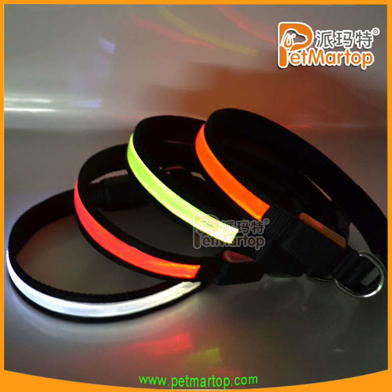 2016 new design pet products pvc safety dog collar TZ-PET1038 samples free colombia
