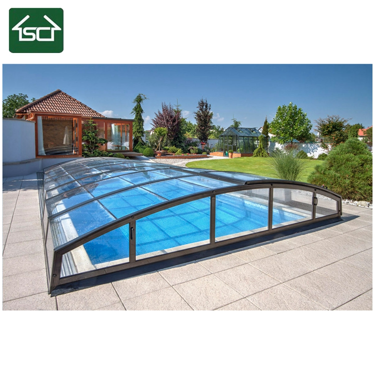 Commercial Polycarbonate Aluminum Telescopic Swimming Pool Enclosures/  Swimming Pool Cover - Buy Pool Roof,Aluminum Pool Enclosure,Swimming Pool  ...