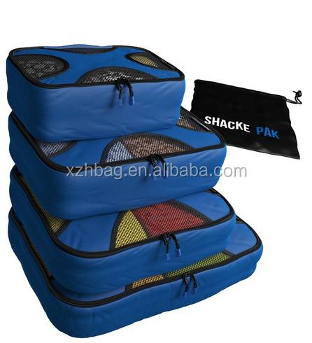 4 set packing cube, latest model travel bags with Laundry Bag