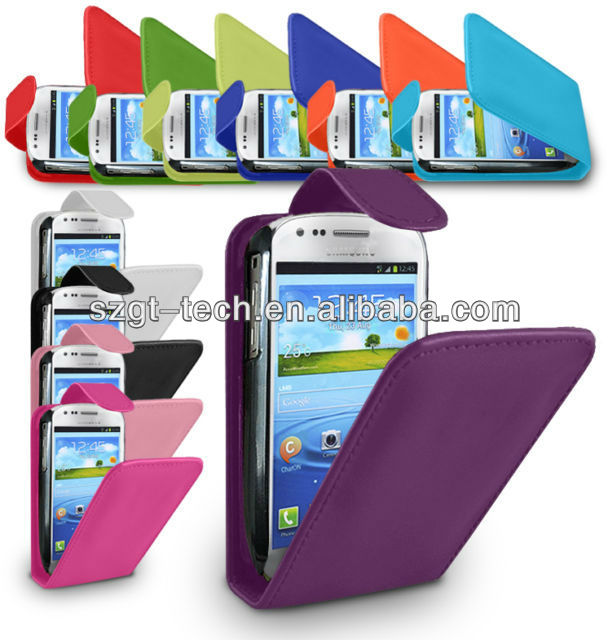 Flip Leather Case for Samsung Galaxy S3 S III Mini I8190
