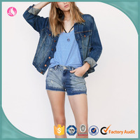 Oem Wholesale Latest Summer Casual Loose Women Denim Shorts