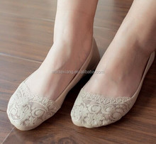 wholesale Lace/cotton Anti Slip No Show Socks,Invisible Women Lace Boat Socks,Lady Low Cut Socks