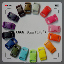 Dongguan Jinyu plastic buckle/plastic side release buckle/safety side release buckle 10mm for webbing