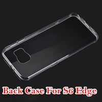 blank phone case transparent TPU Case for samsung galaxy S6 edge