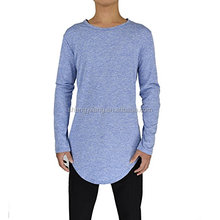 Mens Extend Tail Hipster Hip Hop Swag Curve Hem Long Sleeve T Shirt