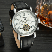 Alloy dial date display tourbillon automatic mechanical watch
