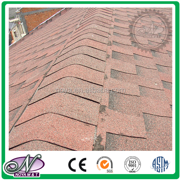 Colorful all kinds fiberglass asphalt shingle asphalt tile price with great price