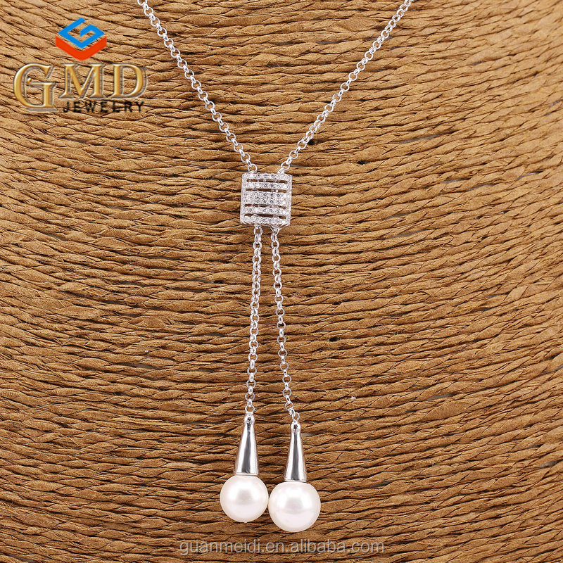 Popular products personalized fashion jewelry silver 925 fake diamond necklace