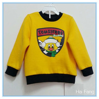 Korean style children clothes, boys chicken printed and embroidered clothes, fashion kids clothing