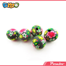 handmade wholesale polymer clay flower round best shamballa beads
