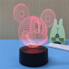 Birthday Gift Mickey Mouse Cartoon 3D Table Lamp Cute LED Night Light For Children Kids Bedsie Decoration Lamps