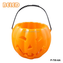 Creative plastic halloween decoration party supplies pumpkin buckets