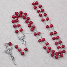 Best selling 7mm rose petal Perfume catholic religious wooden rosary