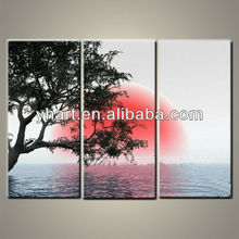 Triptych Landscape Modern Handmade Painting