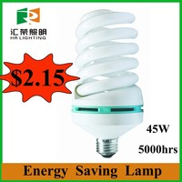 Looking for agents new products 45w cfl energy saving lamp full spiral fluorescent bulb electric light