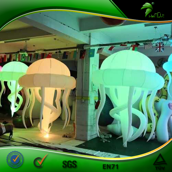 Beautiful Party Night Club Custom Balloon Inflatables LED lighting Jellyfish