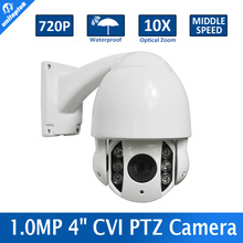 1.0MP 720P Middle Speed 10X Optical Zoom Camera IR Night-Vision Waterproof Outdoor