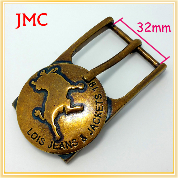 fashion women embroidered jeans buckle JMC belt buckle manufacturers