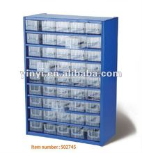 45 Plastic Bin Organizer With Full Length Drawe,storage cabinet with 45 visible bins (502745)