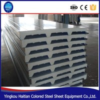 Reasonable price Metal Corrugated colored steel sandwich panel , Heat Insulation PU wall/roof Sandwich Panel