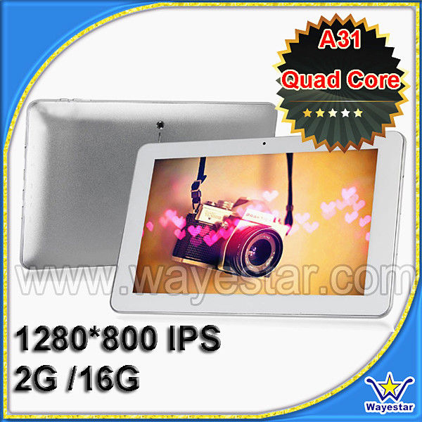 IPS capacitive 10.1 inch Android tablet Quad Core A31