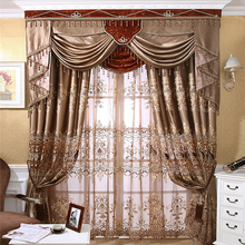 wholesale with valance jacquard blackout fabric curtain