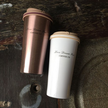 Stainless Steel Thermo Travel Coffee Mug with a Portable Handle