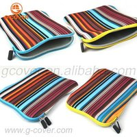 Multicolor Stripe Neoprene Sleeve for ipad 4,for ipad 4case