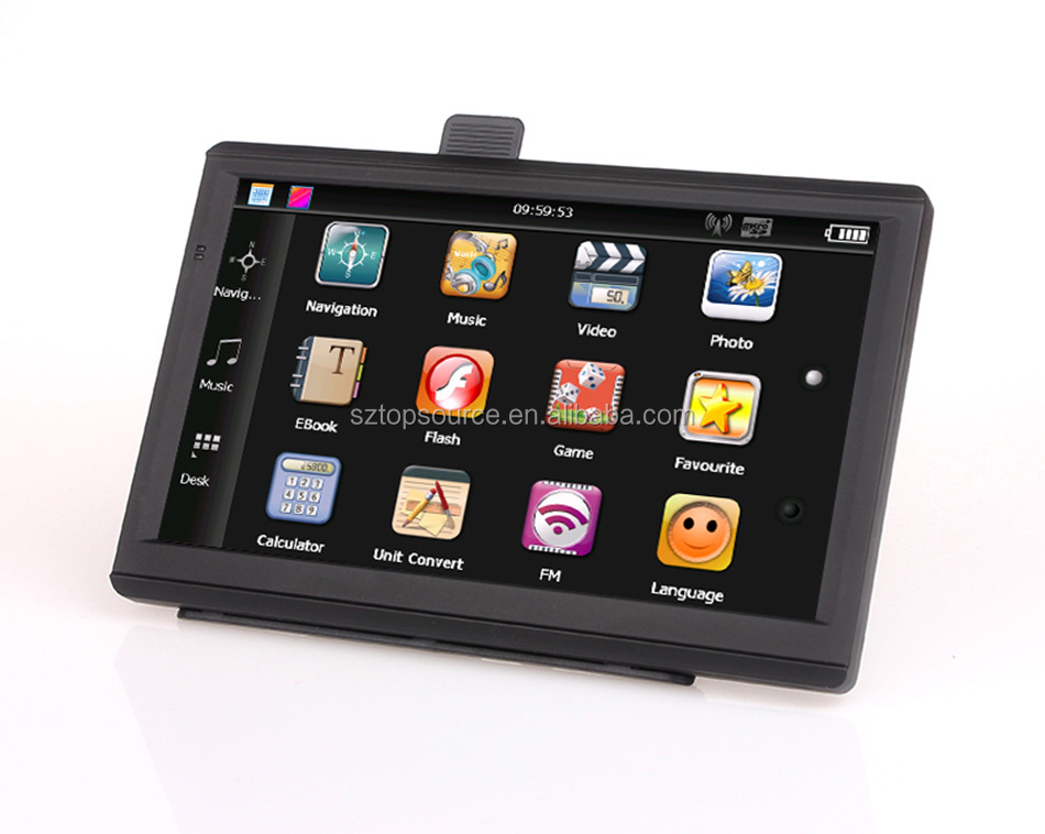 7 inch HD screen Vehicle mstar GPS Navigation 800M/FM/8GB/256MB gps navigation 84h 3 gps navigation system for honda city