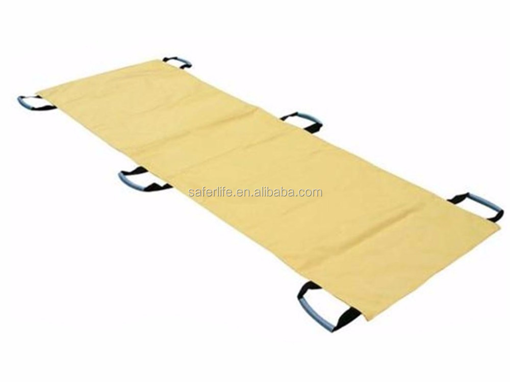Saferlife Rescue Equipment Folding Nylon Patient Transfer Sheets Soft Stretcher First Aid SL-E4