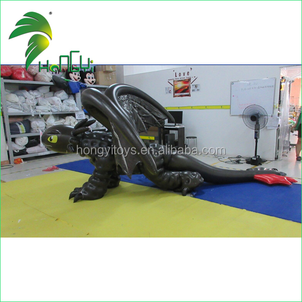 New design Animal costume inflatable toothless dragon costume with double layer PVC