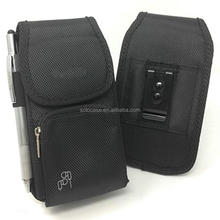 Heavy Duty Nylon Pouch Case with Metal Clip Holster Fits for iPhone
