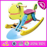 2015 New wooden rock horse toy for kids,lovely wooden rocking horse toy for children,hot sale wooden horse for baby WJY-8106