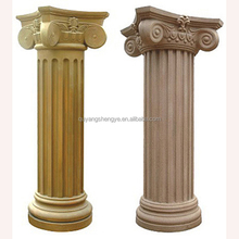 stone roman pillars or balusters with statue