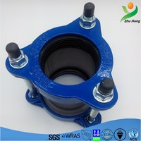 ZFJ 2016 Latest Straight Pipe Straight Gibault Joint/ductile cast iron end cap rapid easy coupling/304 SS sleeve flexible joint