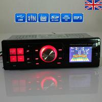 Brand New Universal Stereo Head Unit Car Auto FM /SD Card /USB /MP3 Player Radio Red Light remote control For Iphone
