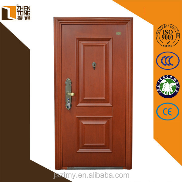Custom steel frame interior/exterior hotel room door