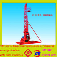 Newly little power consuption multi function large powered used core tractor mounted drilling rigs for sale with 100-530m