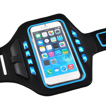 Sports Running Waterproof Armband For iPhone 6 6s 7, Arm Wrist Pouch Case LED Glow Cover For iPhone 6 6s 7 Plus Cover Arm Bags