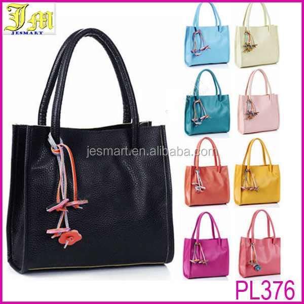 Fashion Cheap Ladies Womens Pu Leather Flower Casual Handbag Shoulder Tote Bag 2014
