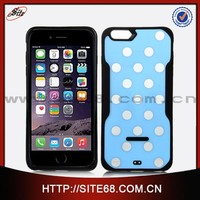 Hot selling fashion design phone case, Tpu and acrylic phone case for ipone 6 plus, polka dot custom cover case for iphone 6+