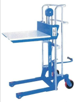400 kg Mini Manual hydraulic Pallet Stacker truck with Adjustable Fork and plateform