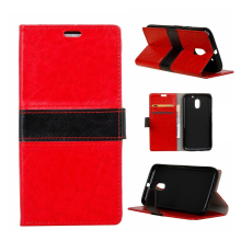C&T 2 Colors Patchwork Design Premium Flip Filo Wallet PU Leather Case For Moto E3/E 3rd Generation